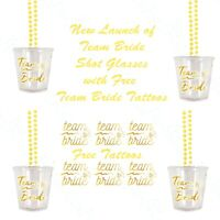 12 Team Bride Shot Glasses Hen Party Shot Glass Hen Do Free Team Bride Tattoos