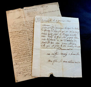 COLLECTION OF TWO LETTERS 1800s