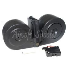 Airsoft BATTLEAXE 2500rd Drum Mag Electric C-Mag Magazine For M4 M16 Series AEG