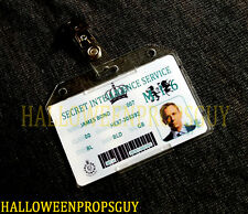 007 Style James Bond MI6 ID Card PVC Prop Replica Daniel Craig w/ Rigid Holder