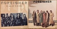 FOREIGNER LP Vinyl Lot Self-Titled 1977 SD 18215 & Double Vision 1978 SD 19999