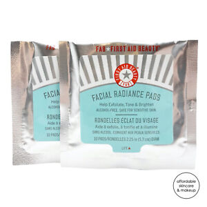 NEW *2X* First Aid Beauty Facial Radiance Pads | 10 Pads EACH