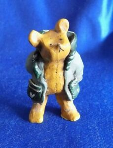 Annekabouke GNOMY Diaries BEAR Hands in his pockets  Green Coat AB008