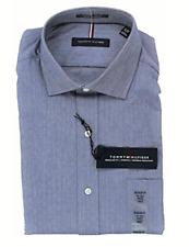 Tommy Hilfiger Stretch Regular Fit Dress Shirt, Blue Micro, L 16-16.5 34-35