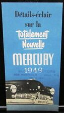 1949 Mercury Canadian Dealer Quick Facts Sales Brochure French Text Features