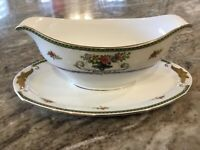 Eamag Schonwald Bavaria SCD127 GRAVY BOAT WITH ATTACHED UNDERPLATE, Bavaria