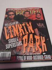 LINKIN PARK Chester Bennington Signed May 2002 HIT PARADER Magazine