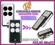 V2 MATCH WHITE / BLACK compatible télécommande / Cloner 433,92Mhz