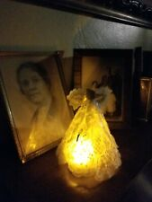 Handmade Guardian Angel Memorial Light Made From Vintage Lace.