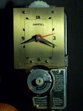 VGC Vintage Sampsel Art Deco Setback Thermostat Heat Cool 24VAC Clock NO+NC USA!