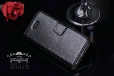 IPhone 5/5s/SE  First Layer Genuine Leather Wallet Case Grade A, Black .