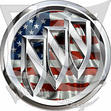 Buick American Flag Decal/Sticker FREE SHIPPING!!