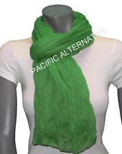 Foulard Vert foncé grand gros 110x170 femme mixte chale echarpe NEUF scarf green
