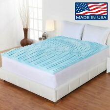"""Memory Foam Mattress Topper King Size Gel 2"""" Thick Egg Crate Pad For Firm Bed"""
