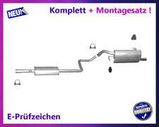 Auspuffanlage Smart Forfour (454) 1.1 1.3 Auspuff Endtopf Mitteltopf Montagesatz