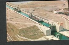 Canada 1963 St Lawrence Seaway Eisenhower Lock post card Cornwall- New Market NJ