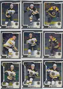 18/19 OPC Platinum Boston Bruins Team Set w/RCs - Orr Krejci Donato RC +