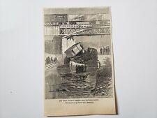 Great Railway Disaster Montreal Canada 1864 Civil War Sketch Print