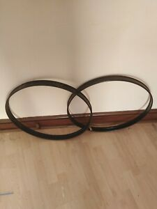 1 X Pair Of 22inch Bass Drum Hoops Black