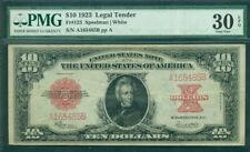 $10.00 Legal Tender, 1923, Fr. #123, PMG Grade 30EPQ Very Fine, scarce