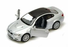 "Brand New 5"" Kinsmart BMW M3 Coupe E92 Diecast Model Toy Car 2 Door 1:36 SILVER"