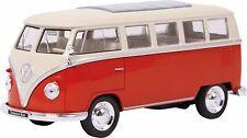 Modellauto VW Classical Bus T1 Bully 1:33 rot Rückzugautomatik Modellfahrzeug