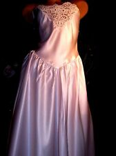 New listing vtg Satin Shiny Posh Pink Sweetheart Venice Nightgown Gown Lingerie S