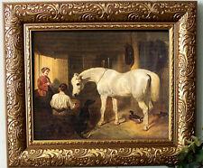 SALE Herring Arabian Horse DOBBIN Pony Print Antique Style Framed 11X13 sh fy