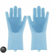 Magic Gloves Dish Washing Silicone Rubber Scrubber Cleaning Green Color 2 in 1