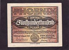 Phoenix Aktien-Gesellschaft 500,000 mark1923  Germany