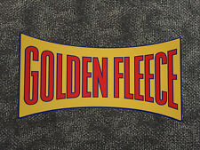 Golden Fleece 'Dogbone' style vinyl sticker for petrol bowser / pump SMALL