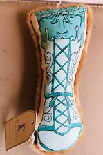 Harry Barker Empire Booty Chew Toy - X-Small  - Turquoise with Squeaker Dog Toy