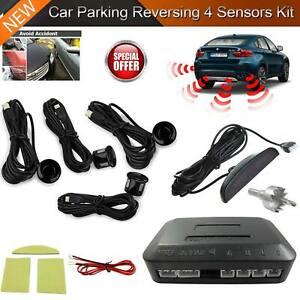 4x Car Parking Sensors Auto Rear Reverse Detector Radar Audio Buzzer Alarm Kit