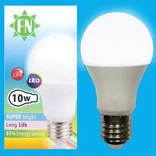 1x 10W A60 GLS ES E27 6500K Daylight White Frosted LED Light Bulb Lamp 110-265V