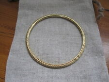 David Yurman Cable Classics hammered Bangle in 18 kt gold , 3 mm