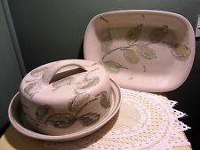 Vintage 1980's *Amberley Sussex Pottery*  Cheese & Cracker/Serving Dish Set