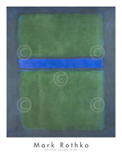 Untitled, 1957 by Mark Rothko Art Print Blue Green Abstract Poster 36x28