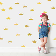 Little Princess Crowns Nursery Girls Kids Room Idea Wall Stickers Vinyl Decal