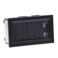 Voltmetro Amperometro Digitale Misuratore DC 100V 10A Display Blu/Rosso W2W0
