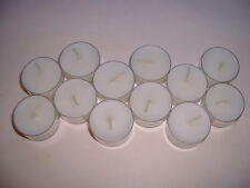 12 Tea Light Candles - Tealights - Hand Poured 12 White Unscented
