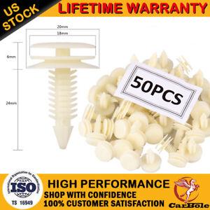 50PCS Plastic Door Trim Panel Retainer Car Fasteners Clips For Chevrolet S10 GMC