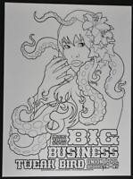 Big Business Concert Poster Brian Ewing Art Print Silkscreen 2009 BLACKLINE