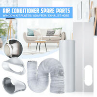 A Set Window Kit Plate Air Conditioner Exhaust Hose Adapter Window Sealing Cloth