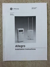 GE Security Allegro Installation Instructions Rev D