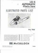 McCULLOCH(LG-6 Automatic)  Parts & Repair List 1968 Copy