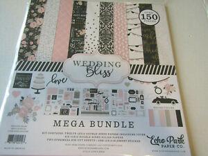 Echo Park Wedding Bliss 12x12 Mega Bundle Paper Stickers  Ephemira 150 pieces