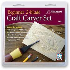Flexcut Beginner 2 Blade Craft Carver Wood Carving Set SK111