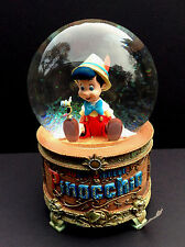 DISNEY Store SNOWGLOBE PINOCCHIO WISH UPON A STAR Snow Globe In Box NEW