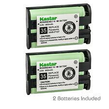 Kastar 2-Pack HHR-P107 Cordless Phone Home Battery for Panasonic HHRP107 KX-3031