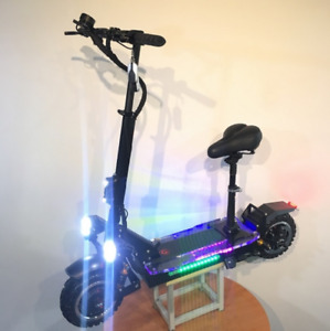 3600w/60v Two Wheel 11in. Folding Off Road Electric Scooter w Seat 45-55MPH5 US